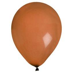 Ballon de Baudruche uni Marron x 8