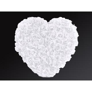 Coeur en fleur blanc