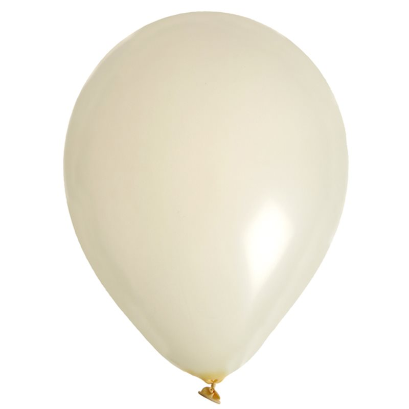 Ballon de Baudruche uni Ivoire x 8