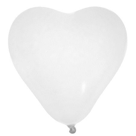 Ballon de Baudruche coeœur Blanc x 8