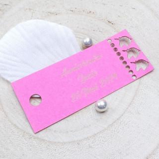 x1 Etiquette rectangle Licorne personnalisée