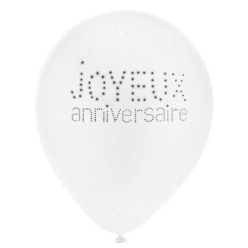 Ballon de Baudruche Anniversaire x 8