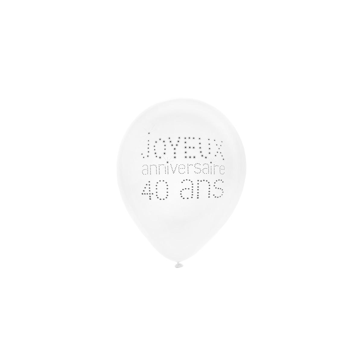 Ballon de Baudruche Anniversaire 40 ans x 8