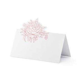 Marque place blanc pivoine rose