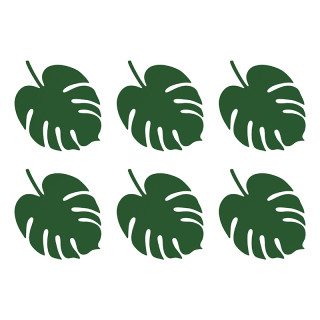 marque places tropicale feuille vert