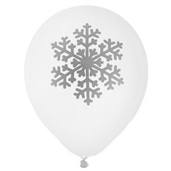 Ballon de Baudruche Flocon x 8