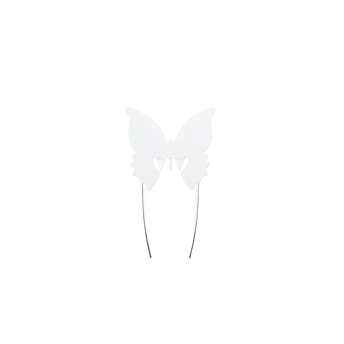 Marque verre papillon dentelé