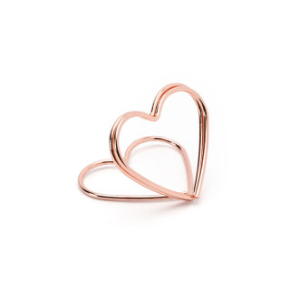 Support marque place coeur rose gold