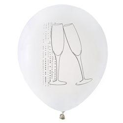 Ballon de Baudruche Champagne Blanc x 8