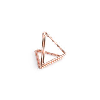 Support marque place triangle rose gold