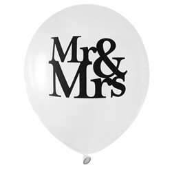 Ballon de Baudruche Mr & Mrs x 8