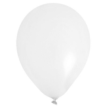 Ballon de Baudruche Blanc x8