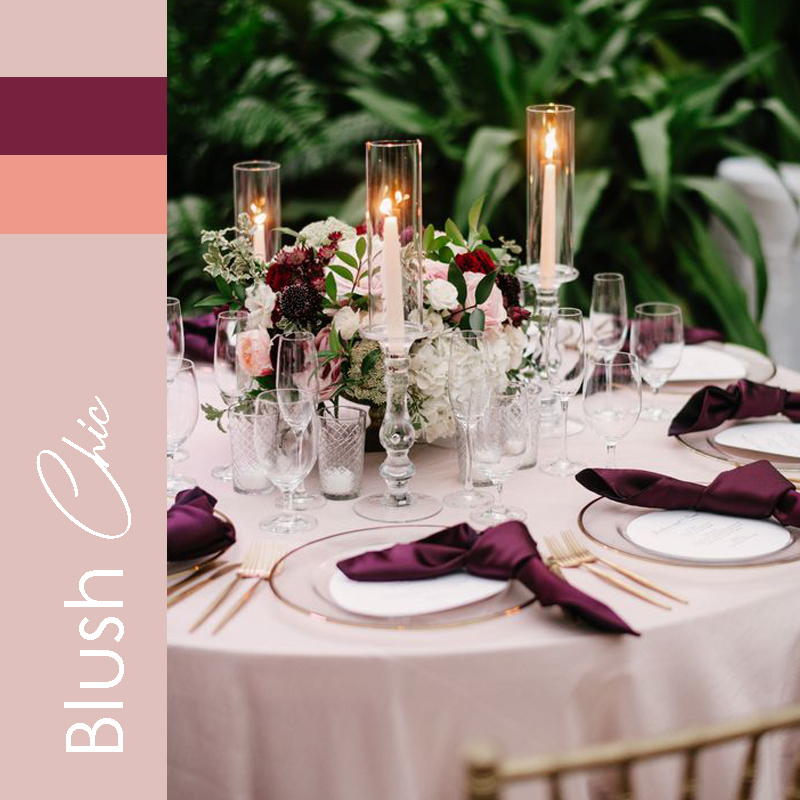 tendance 2021 mariage Blush Chic