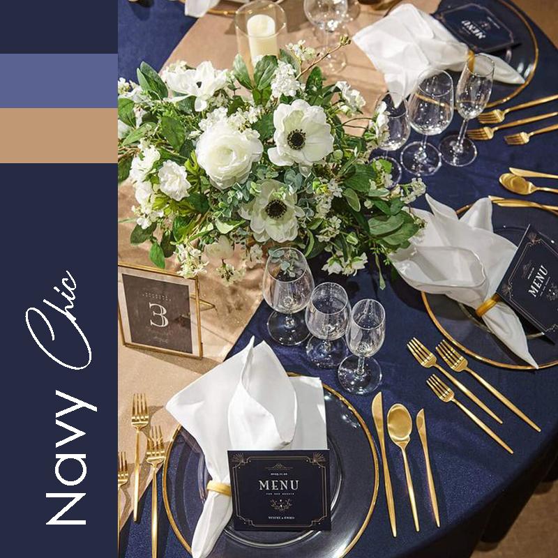 tendance 2021 mariage Navy Chic