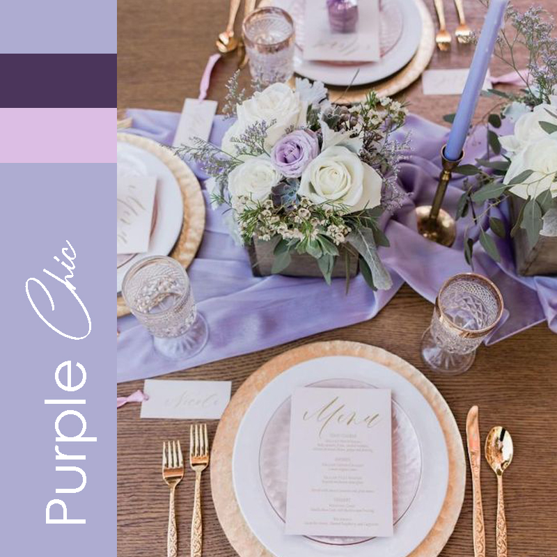 tendance 2021 mariage Purple Chic